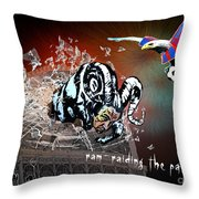 Football Derby Rams Against Crystal Palace Eagles Throw Pillow