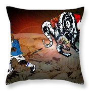 Football Derby Rams Against Leicester Foxes Throw Pillow