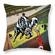 Football Derby Rams Against Nottingham Forest Red Dogs Throw Pillow