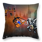 Football Derby Rams Against Peterborough Posh Throw Pillow