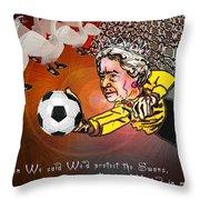 Football Derby Rams Against Swansea Swans Throw Pillow