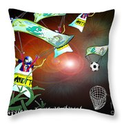 Football Derby Rams Against West Brom Baggies Throw Pillow