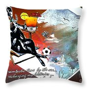 Football Derby Rams On Holidays By The Sea Throw Pillow