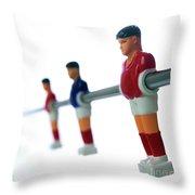 Football Figurines Throw Pillow