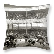 Football Game, 1916 Throw Pillow