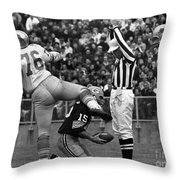 Football Game, 1965 Throw Pillow