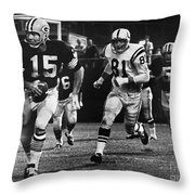 Football Game, 1966 Throw Pillow
