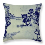 Football In The Park Throw Pillow