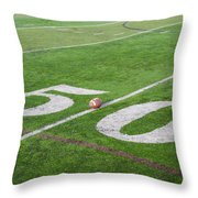 Football On The 50 Yard Line Throw Pillow