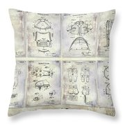 Football Patent History Throw Pillow