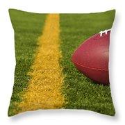 Football Short Of The Goal Line Close Throw Pillow