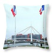 Footbridge Bassin Du Commerce 1 Throw Pillow