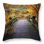 Footbridge Canopy Throw Pillow