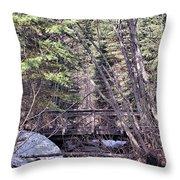 Footbridge In The Spring Throw Pillow