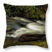 Footbridge Over Raging Moccasin Creek Throw Pillow