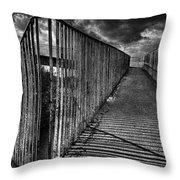 Footbridge Railings Throw Pillow