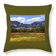 Foothills Of Colorado Throw Pillow