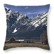 Foothills Of The Tetons Throw Pillow