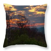 Foothills Parkway Dawn Throw Pillow