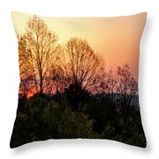 Foothills Parkway Sunrise Throw Pillow
