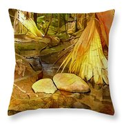 Footpath In National Park Throw Pillow