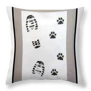 Footprints- Friends Throw Pillow