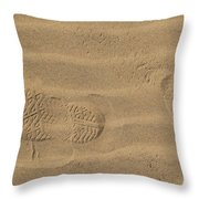 Footprints  Throw Pillow