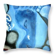 Footprints On Sands Of Time Throw Pillow