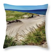 Footsteps In The Dunes Throw Pillow