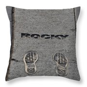 Footsteps - Rocky Throw Pillow