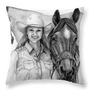 For Bling Throw Pillow