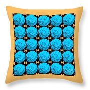 For Every Blue Rose There Is A Butterfly Throw Pillow