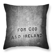 For God And Ireland Macroom Ireland Throw Pillow
