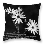 For God So Loved Black-eyed Susan Flower Throw Pillow