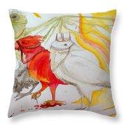 For Ravens Of The Apocalypse Throw Pillow