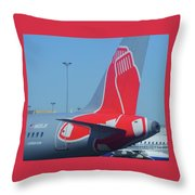 For Red Soxs Fans Throw Pillow