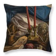 For The Bishop Of Digne Throw Pillow by Break The Silhouette