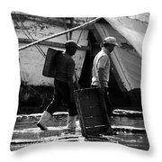 For The Catch Throw Pillow