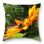 For The Honey Comb Throw Pillow