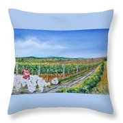 For The Love Of Chickens Throw Pillow