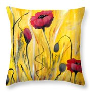 For The Love Of Poppies Throw Pillow