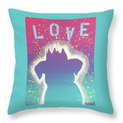 For The Love Of Pups Throw Pillow