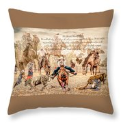 For The Love Of Rodeo Throw Pillow