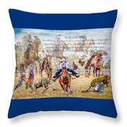 For The Love Of Rodeo II Throw Pillow