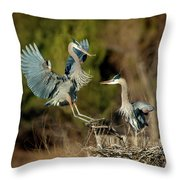 For The Nest, Honey Throw Pillow
