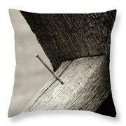 For Want Of A Nail Throw Pillow