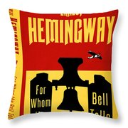 For Whom The Bell Tolls Book Cover Poster Art 1 Throw Pillow