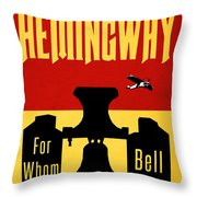 For Whom The Bell Tolls Book Cover Poster Art 2 Throw Pillow