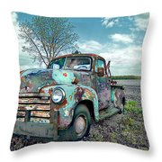 For Whom The Truck Tows Throw Pillow