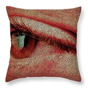 For Your Eyes Only Throw Pillow